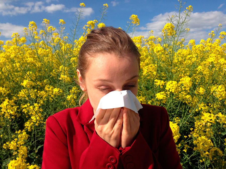 como combatir la alergia primaveral